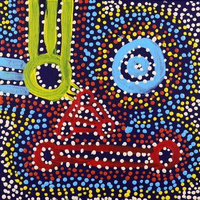 Ngapa Jukurrpa - Water Dreaming - Puyurru, Watson Jangala Robertson, Aboriginal art