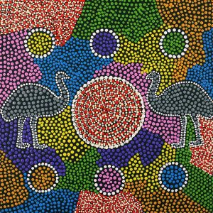 Yankirri Jukurrpa - Emu Dreaming - Ngarlikurlangu, Melinda Napurrurla Wilson, aboriginal art
