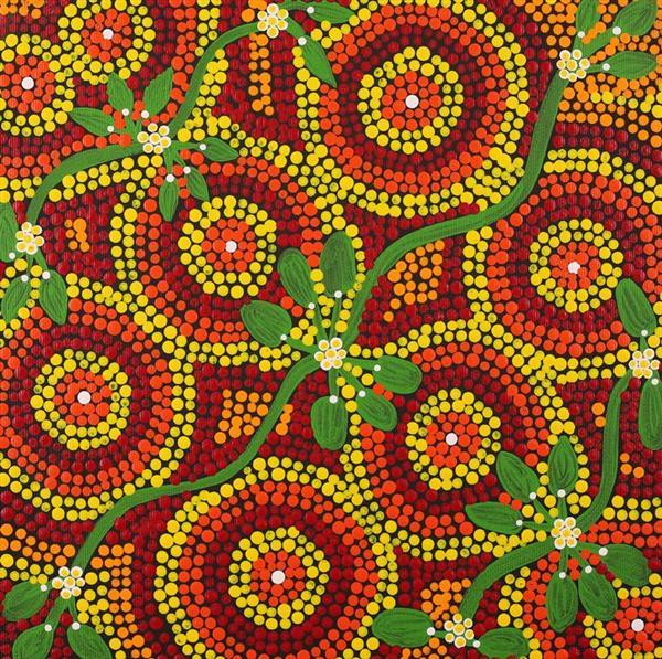 Yuparli Jukurrpa - Bush Banana Dreaming, Samantha Napurrurla Wilson, Aboriginal art