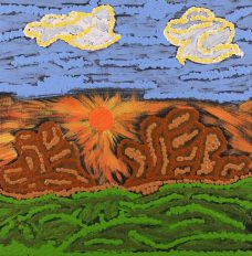 Nguru Yurntumu-wana - Country around Yuendumu, Sarah-Jane Nampijinpa Singleton, Aboriginal art