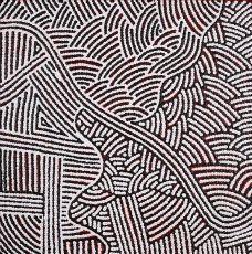 Leah Nampijinpa Sampson, Ngapa Jukurrpa - Water Dreaming - Pirlinyarnu, Aboriginal art