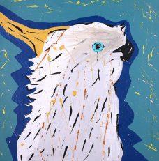 Cherylyn Napangardi Granites, Jurlpu kuja kalu nyinami Yurntumu-wana - Birds that live around Yuendumu, Aboriginal art