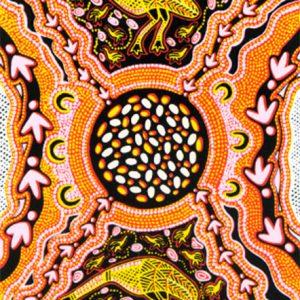 Roslyn Kemp, Emus and Eggs, Australian Aboriginal art